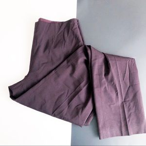 WORTH New York Burgundy Color Trouser Pants